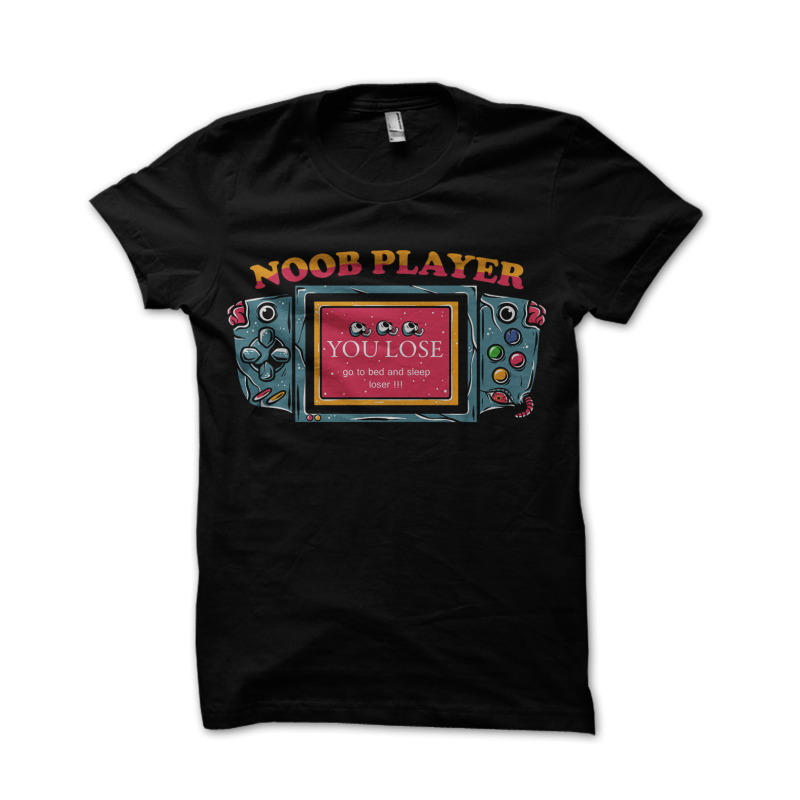noob player tshirt design for sale