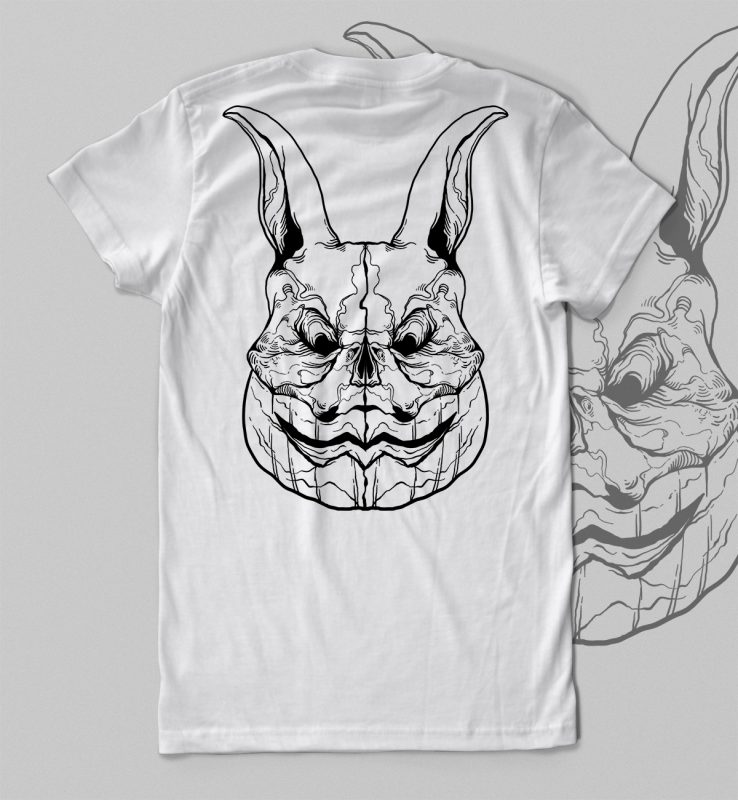rabbit Halloween t-shirt design t shirt design png