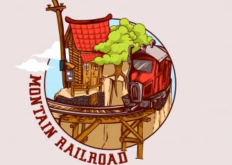 Montain Railroad t shirt designs for sale