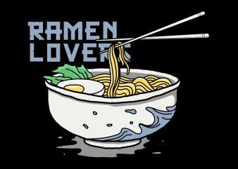 ramen lovers t shirt design for download