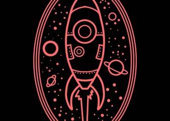rocket vector t-shirt design