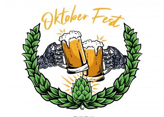 cheers for oktober fest vector t-shirt design