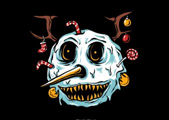 snowman terror vector t shirt design artwork