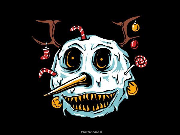 snowman terror vector t shirt design artwork