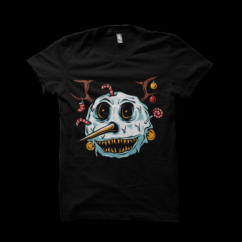 snowman terror t shirt designs for teespring