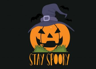 Stay Spooky t shirt template vector
