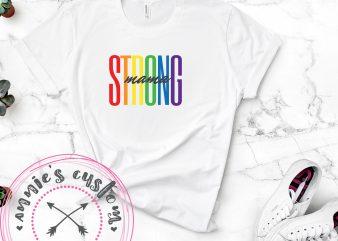 Strong Mama – Black buy t shirt design