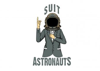suit astronauts t-shirt design