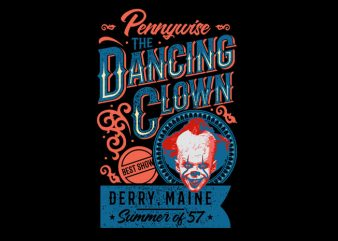 the dancing clown t shirt designs for sale