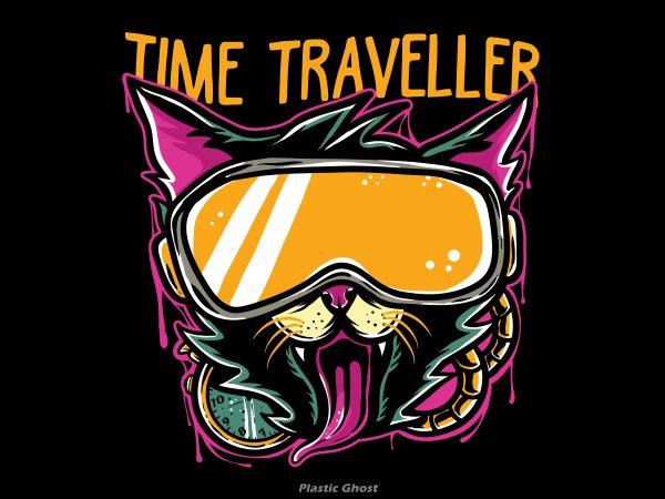 Time Traveller commercial use t-shirt design