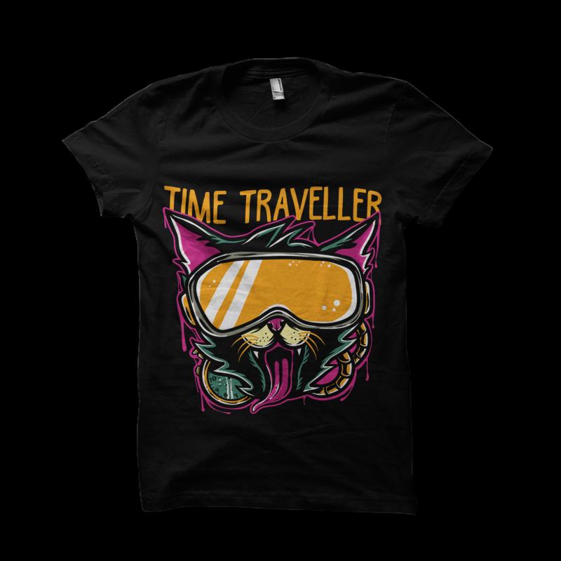 Time Traveller tshirt design for sale