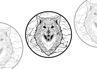 Black Wolf t-shirt design