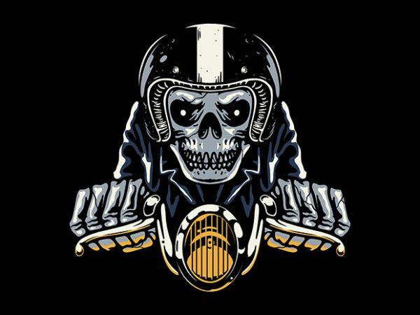 Death Biker t shirt vector illustration