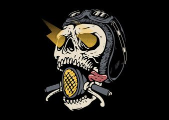 Skull Biker t shirt design to buy