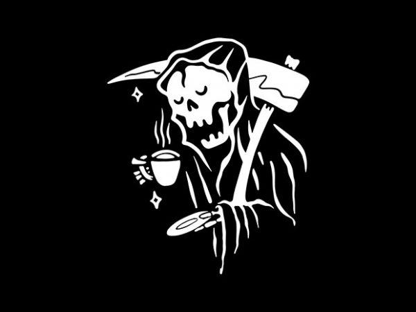 Coffee Reaper t shirt vector file