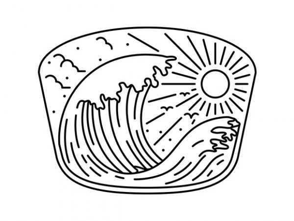 Good Wave vector t-shirt design template