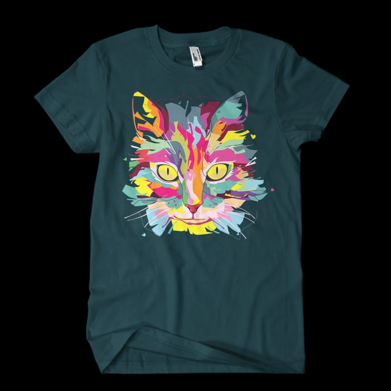 Cat Love Vector t-shirt design vector shirt designs