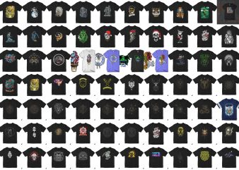 103 tshirt designs. Christmass, Halloween, Skull, Astronaut, etc