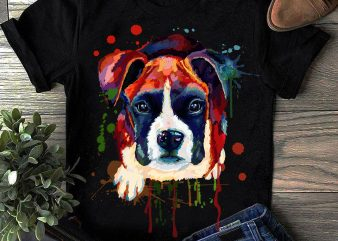 Boxer – Hand Drawing Dog By Photoshop – 13 t shirt template