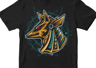 ANUBIS HEAD GEOMETRIC t shirt vector