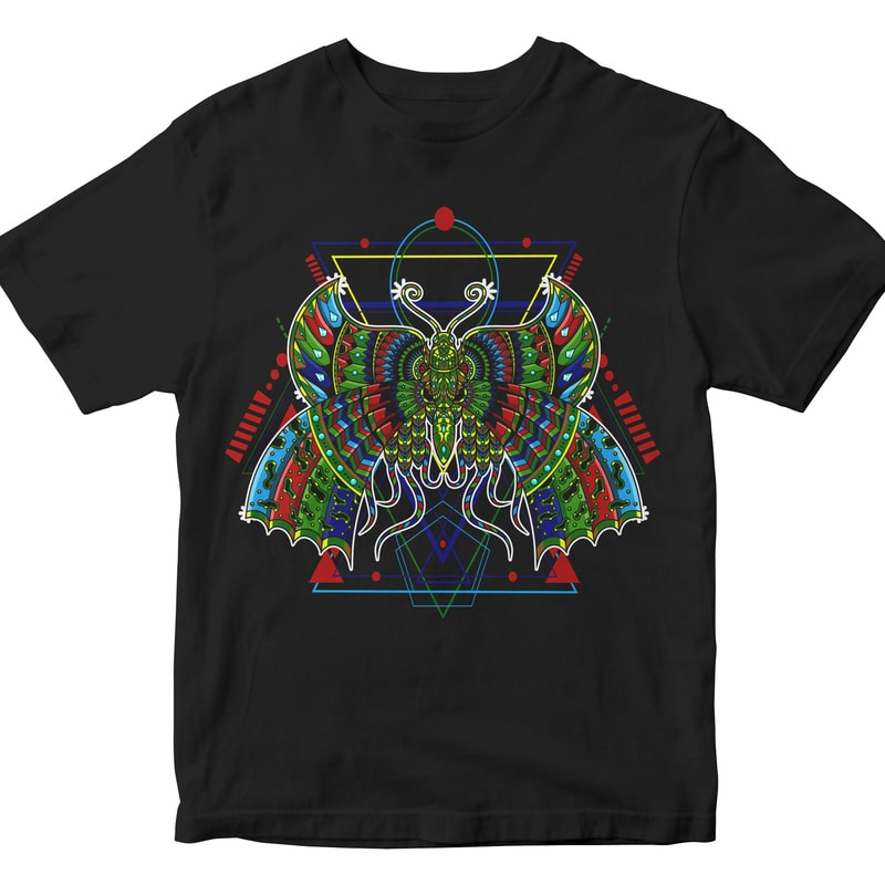 Butterfly geometric t shirt designs for teespring