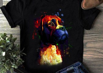 Boxer – Hand Drawing Dog By Photoshop – 15 t shirt template