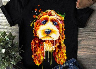 Hand Drawing Dog By Photoshop – 16 graphic t shirt