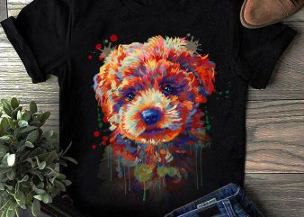 Hand Drawing Dog By Photoshop – 17 graphic t shirt