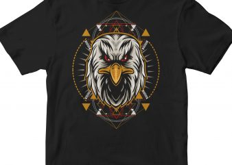 EAGLE HEAD HEOMETRIC print ready shirt design