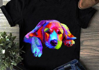 Golden Retriever – Hand Drawing Dog By Photoshop – 18 t shirt design template