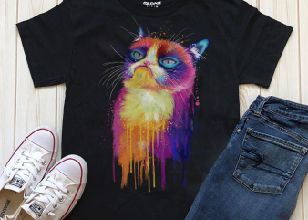Hand Drawing Cat By Photoshop – 22 graphic t shirt
