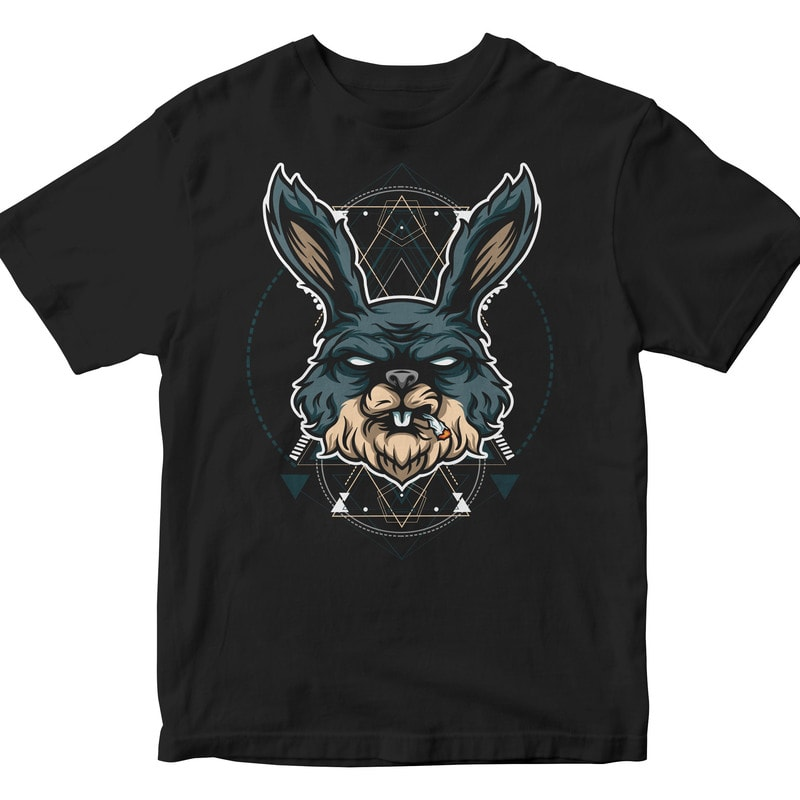 RABIT HEAD GEOMETRIC t shirt designs for teespring