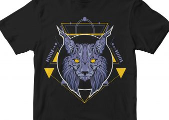 MIGHTY WOLF HEAD GEOMETRIC vector t shirt design artwork