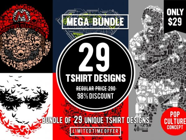 29 Tshirt Designs Bundle