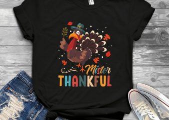 mister thankful t-shirt design for sale