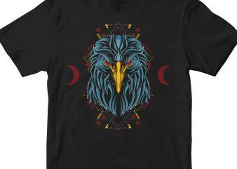 EAGLE HEAD GEOMETRIC vector t shirt design artwork