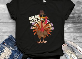 turkey eat pizza t shirt designs for sale