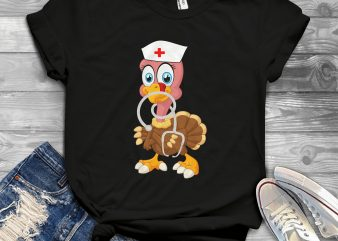 turkey nurse t shirt design for purchase
