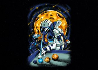nineball spaceman Graphic t-shirt design