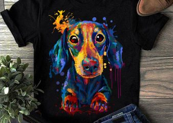 Dachshund – Hand Drawing Dog By Photoshop – 8 t shirt vector illustration