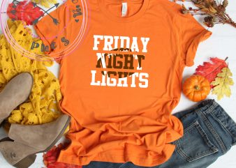 Football Friday Night Lights t shirt graphic design