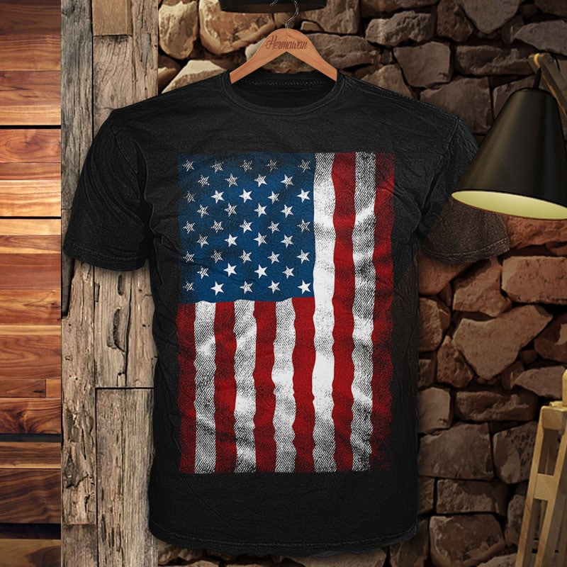 AMERICAN Flag Chest vector t shirt design