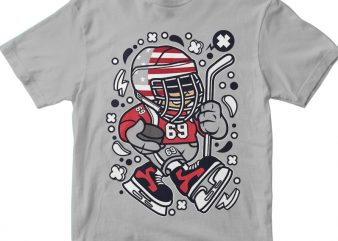 American Hockey Kid t shirt vector