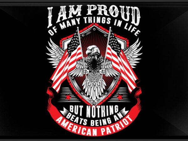 American Patriot vector t shirt design for download