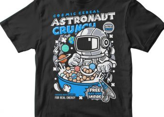 Astronaut Crunch graphic t-shirt design
