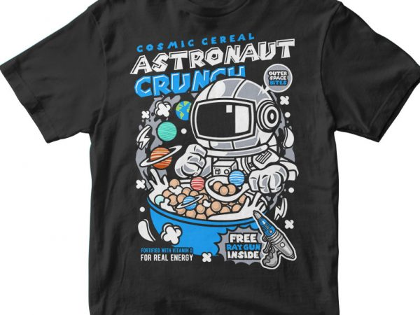 Astronaut Crunch t shirt vector