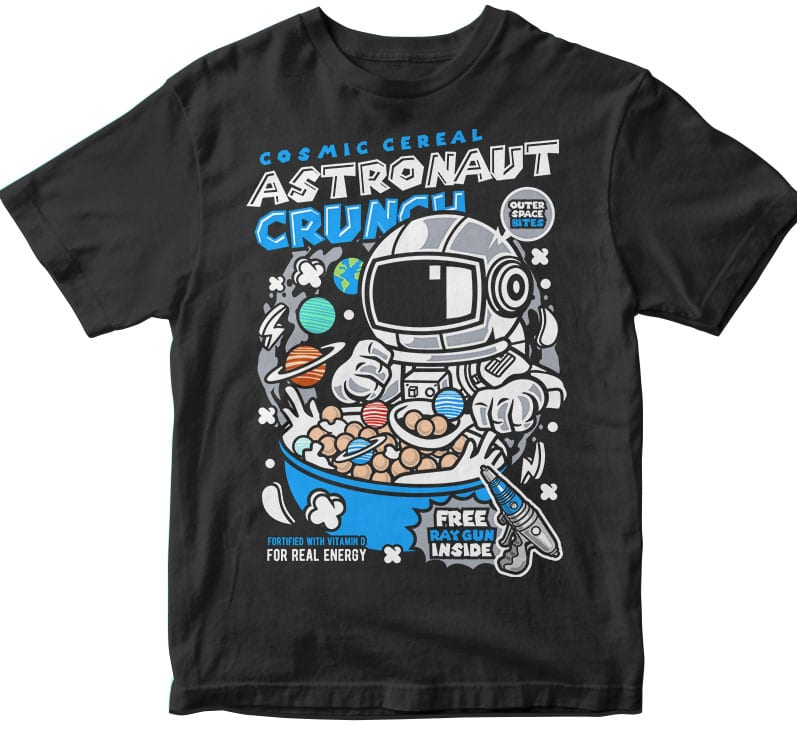Astronaut Crunch t shirt designs for printify