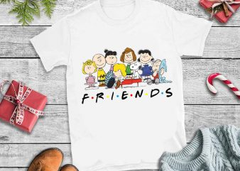 Snoopy Charlie Brown And Peanuts Friends PNG,Snoopy Charlie Brown And Peanuts Friends t-shirt design for sale