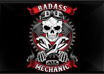 Badass mechanic t shirt template