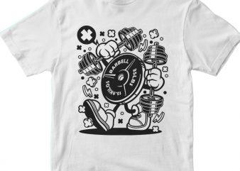 Barbel Plate vector t-shirt design template